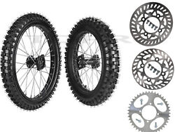 Front Rear Wheels 70/100-19 90/100-16 Tire And Rim For Pit Bike Crf100 Kx100 Xr100