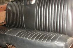 1961-64 Chev, Impala,biscayne,bel Air Rear Seat W/speaker 2dr Ss Coupe Black