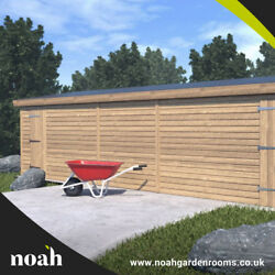 14x8 And039whitefieldand039 Wooden Garden Shed/workshop/garage - Heavy Duty Tanalised