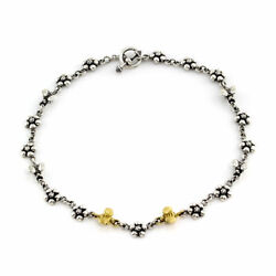 Saint Bee And Blossom Sterling Silver And 18k Yellow Gold Collar Necklace