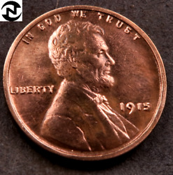 1915 Lincoln Wheat Penny Cent // Choice Bu Red // W614