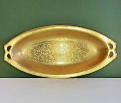 Vintage Gold Porcelain Keyhole Relish Tray About 10andrdquo X 5andrdquo X 1 Bavaria Germany
