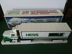 Hess Gas Service Station 1992 18 Wheeler And Racer Friction W/ Working Lights