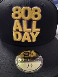 808allday 7 3/4 Kobe Bryant Laker Not Farmers Market Hawaii Fitted Hawaii Ds