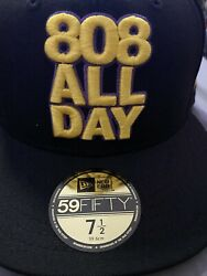 808allday 7 1/2 Kobe Bryant Laker Not Farmers Market Hawaii Fitted Hawaii Ds