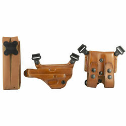 Right Hand Miami Classic Shoulder Holster System Double Dump Pouch Fit Revolvers