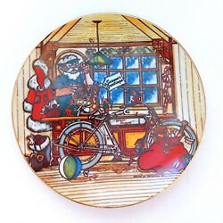Ltd Harley Davidson Collectible Christmas Decorative Plate 1984, 1st In Series