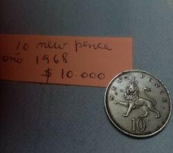 New Pence Coin 10 1968