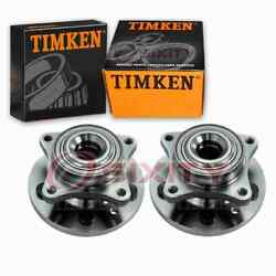 2 Pc Timken Front Wheel Bearing Hub Assembly For 2005-2009 Land Rover Lr3 Us