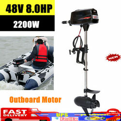 Electric Outboard Engine Muffler Inflatable Boats Canoes Propeller Motor Durable