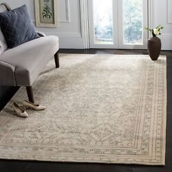 Safavieh Hand-knotted Nepalese Genuta Wool Rug Sky Blue/cream 6and039 X 9and039