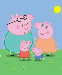Peppa Pig Poster Bedroom Wall Art Printed on Gloss Photo Paper