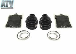 Pair Of Front Outer Cv Boot Kits For Polaris Trail Boss 250 4x4 1987-1989