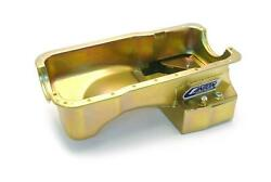 Canton Racing Prod Oil Pan Road Race Steel Gold Iridited 6 Qt. Rr Sump 15644s