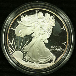 Proof American Silver Eagle Dollar. 1994 P. Ogp. Lot 002