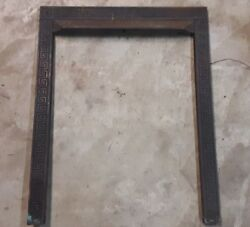 Cast Iron Fireplace Mantel Surround Facade Victorian Greek Key Pick-up Only
