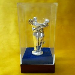 Vintage Sterling Silver Plated 925/statue Small Four People Join Each Other Nice