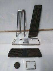 1965-1976 Cadillac Deville Fleetwood Gas Brake Foot Pedal And Stainless Steel Trim
