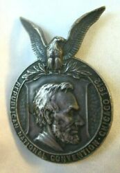 1912 Republican National Convention Medal Chicago Illinois Badge Abraham Lincoln
