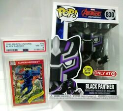 Setblack Panther Marvel Universe 1990 20 Psa 8 And Funko Pop Glow 830 Avengers