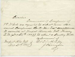 Civil War - Union - Autograph Letter Signed 12/21/1863 With Co-signers