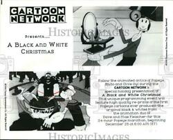 1992 Press Photo A Black And White Christmas With Popeye And Olive Oyl
