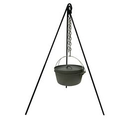 New Cast Iron Camping Tripod Pot Outdoor Campfire Cooking Picnic Fire Oven Grill