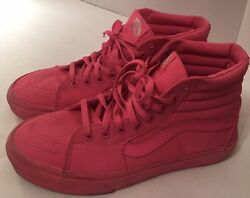 Vans Off the Wall High Top Mens 8.5 Womens 10 Pink Lace Up Sneakers