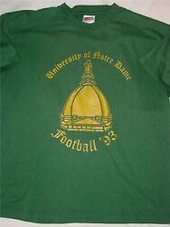 Rare Vintage 1993 Double Sided Notre Dame Football Shirt With Schedule -size Xl