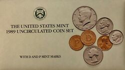 Us Mint 1989 Uncirculated 10 Coin Set With Pandd Mint Marks In Original Packaging