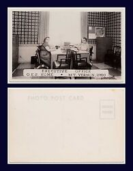 Ohio Mt Vernon Order Of Eastern Star Home Executive Office Real Photo 1950's