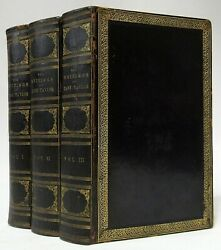 Antique 1835 The Writings Of Jane Taylor Woman Author Fine Leather Book Set