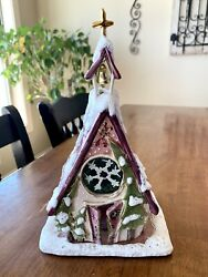 Rare Blue Sky Clayworks Chapel In The Woods Heather Goldminc Christmas 2005