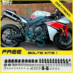 White Injection Fairing Plastic Kit Set Fit Yamaha Yzf-r1 2012-2014 010 A2