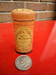 Vtg.and Rare Colgate Purified Talc Powder Sample Tin Canister