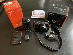 Sony Alpha A6300 24.2mp Mirrorless Camera - Black W/ 16-50mm And 55-210mm Lenses