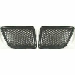 Grille For 92-95 Pontiac Grand Am Set Of 2 Without Emblem Provision
