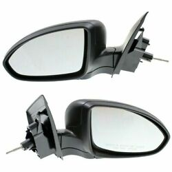 Manual Remote Mirror Set Of 2 For 2011-2015 Chevy Cruze Manual Folding Black