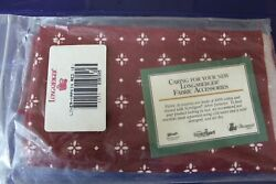 Longaberger Set Of Two Traditional Red 17 Square Fabric Napkins 236395 New