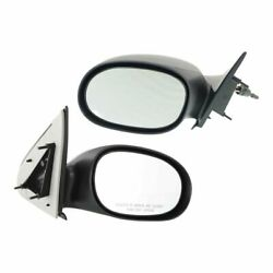 Manual Remote Mirror Set Of 2 For 2000-2005 Dodge Neon Left And Right Paintable