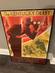 Churchill Downs 129th Kentucky Derby 2003 Official Poster Horse Racing Action