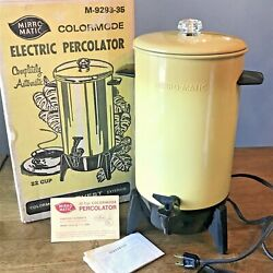 Vtg Mirro Maticparty Perkelectric Percolator Coffee Maker22 Charvest Gold