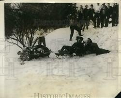 1926 Press Photo Students Of National Farm School Participating In Sled Race