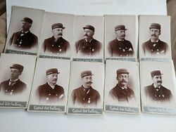 Lot Of 10 Vintage Cabinet Cards,galion,oh.dapper,firemen,fire Chied,mustaches