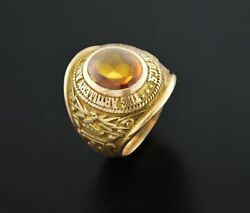 1957 The Artillery And Guided Missile School Ocs 10k Gold Military Class Ring