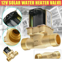 Brass Electric Solenoid Valve Switch Water Air N/c Dc12v 1/2 Normally Closed Us