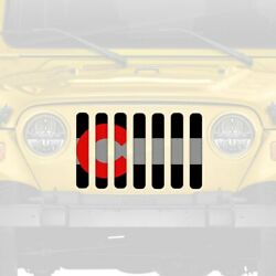 For Jeep Tj 97-06 Dirty Acres 1-pc Colorado Red Style Perforated Main Grille