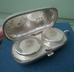 Edwardian Sterling Silver Double Sovereign Case Holder H/m 1910 Colen Cheshire