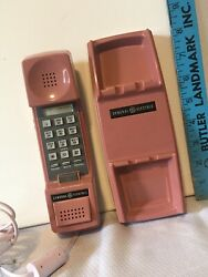 Vintage Ge 2-9110trb Pink Push Button Corded Desk Wall Phone Tested Works