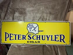 Peter Schuyler Cigar Sign In Amazing Condition